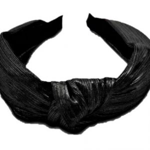 Hiuspanta solmulla metallihohto Musta