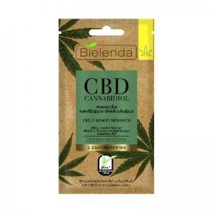 Bielenda CBD Cannabidiol kosteuttava ja kuona-aineita poistava hampunsiemenöljy naamio rasvoittuvalle & sekaiholle 8g